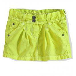 Dívčí sukně PEBBLESTONE zelená neon Velikost: 92-98
