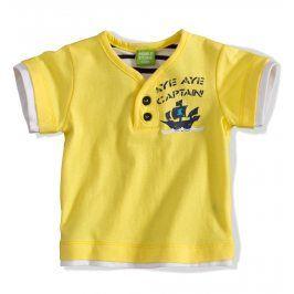 PEBBLESTONE Kojenecké tričko s krátkým rukávem žluté Velikost: 68