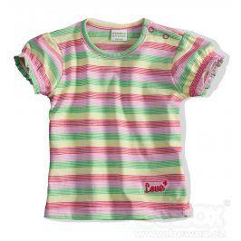 Kojenecké tričko PEBBLESTONE PROUŽKY růžové Velikost: 68