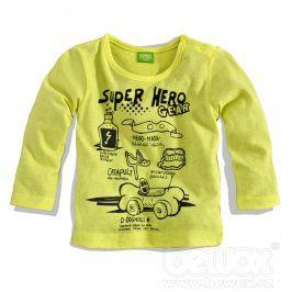 Chlapecké triko PEBBLESTONE HERO žluté Velikost: 68