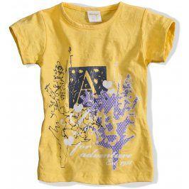 Dívčí tričko DIRKJE ADVENTURE žluté Velikost: 92