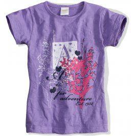 Dívčí tričko DIRKJE ADVENTUREfialové Velikost: 92