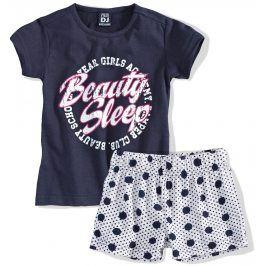 Dívčí letní pyžamo Dirkje BEAUTY SLEEP tmavě modré Velikost: 110