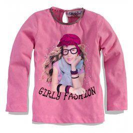 KNOT SO BAD Dívčí triko s dlouhým rukávem KnotSoBad GIRLY FASHION růžové Velikost: 92