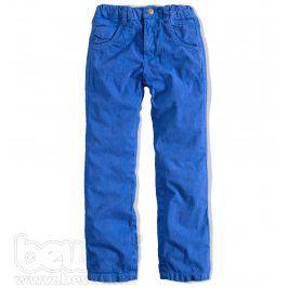 Chlapecké plátěné kalhoty Knot So Bad modré Velikost: 92