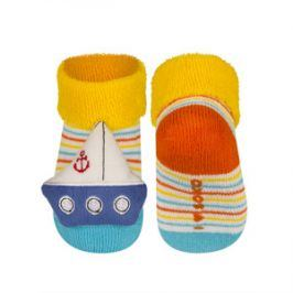 SOXO Ponožky s chrastítkem LODIČKA Velikost: 16-18