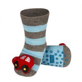 SOXO Ponožky s chrastítkem AUTO Velikost: 19-21