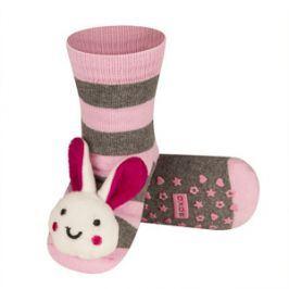SOXO Ponožky s chrastítkem ZAJÍČEK růžové Velikost: 19-21