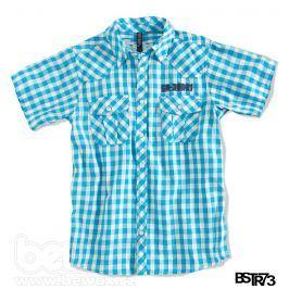 Chlapecká košile s krátkým rukávem BOYSTAR tyrkysová Velikost: 176