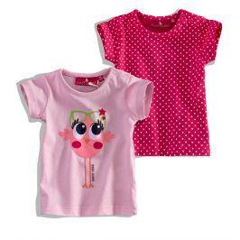 Kojenecké tričko KNOT SO BAD PTÁČEK růžové balení 2ks Velikost: 62