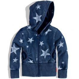 Dívčí mikina s kapucí DIRKJE STAR DANCE modrá Velikost: 92