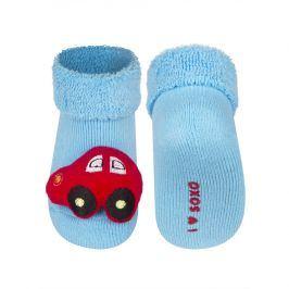 Kojenecké ponožky s chrastítkem SOXO AUTÍČKO modré Velikost: 14-15