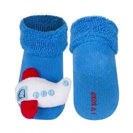Ponožky s chrastítkem SOXO LETADLO modré Velikost: 14-15