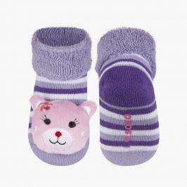 Ponožky s chrastítkem SOXO KOČIČKA fialová Velikost: 16-18