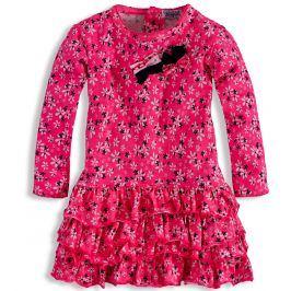 Dívčí šaty DIRKJE KYTIČKY růžové Velikost: 92