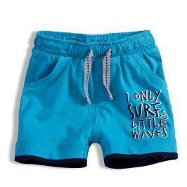 Chlapecké šortky KNOT SO BAD LITTLE WAVES modré Velikost: 62
