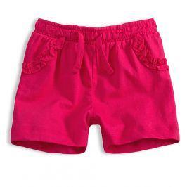 Dívčí šortky KNOT SO BAD FRILL růžové Velikost: 62