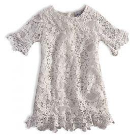 Dívčí krajkové šaty KNOT SO BAD KRAJKA bílé Velikost: 92