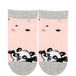 Dívčí kojenecké ponožky GATTA PANDA růžové Velikost: 18-20