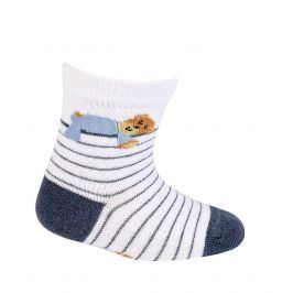 Chlapecké kojenecké ponožky GATTA MEDVÍDEK bílé Velikost: 18-20