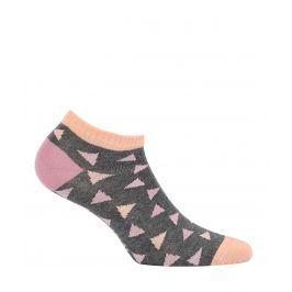 Dívčí kotníkové ponožky WOLA TROJÚHELNÍKY šedé Velikost: 33-35