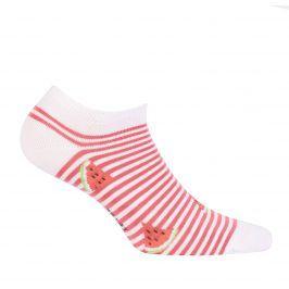Dívčí kotníkové ponožky WOLA MELOUN bílé Velikost: 33-35