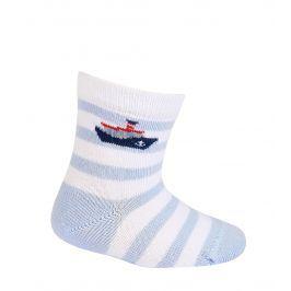Chlapecké kojenecké ponožky WOLA PARNÍK bílé Velikost: 18-20