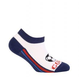 Chlapecké kotníkové ponožky WOLA GOAL modré Velikost: 21-23