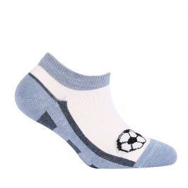 Chlapecké kotníkové ponožky WOLA MÍČ modré Velikost: 21-23