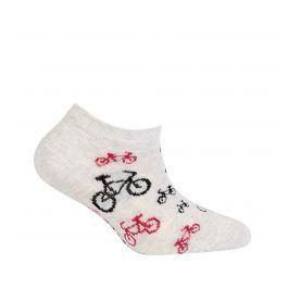 Dětské kotníkové ponožky WOLA CYKLO šedé Velikost: 21-23