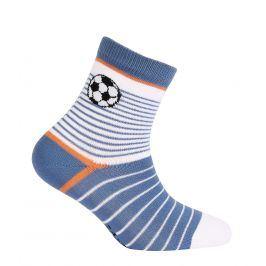 Chlapecké ponožky se vzorem WOLA FOTBALOVÝ MÍČ bílé Velikost: 24-26