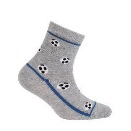Chlapecké ponožky s obrázkem WOLA MÍČE šedé Velikost: 24-26