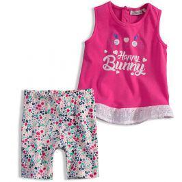 Dívčí letní komplet Mix´nMATCH BUNNY růžový Velikost: 92