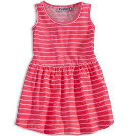 Dívčí šaty KNOT SO BAD PROUŽKY růžové Velikost: 92