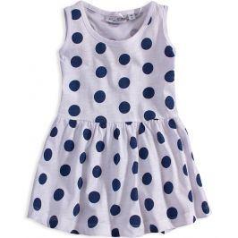 Dívčí šaty KNOT SO BAD PUNTÍKY bílé Velikost: 98