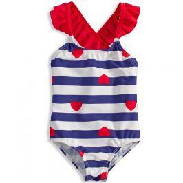 Dívčí plavky KNOT SO BAD HEART modré Velikost: 110