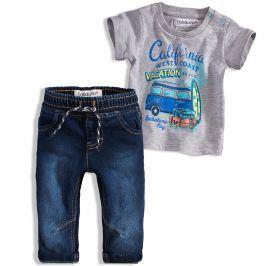 Chlapecká souprava BABALUNO OCEANSIDE šedé tričko Velikost: 56-62