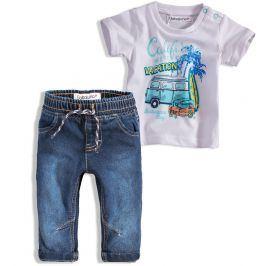Chlapecká souprava BABALUNO OCEANSIDE bílé tričko Velikost: 56-62