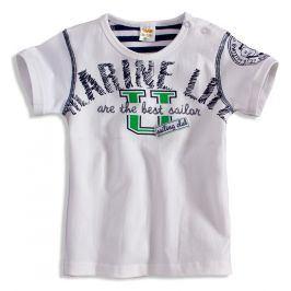 Dětské tričko DIRKJE MARINE bílé Velikost: 56