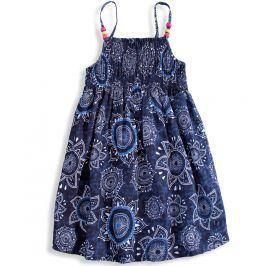 Dívčí letní šaty LOSAN SUNFLOWER modré Velikost: 158