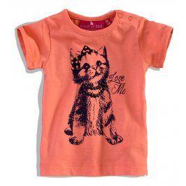 Kojenecké tričko krátký rukáv KNOT SO BAD KOČIČKA oranžové Velikost: 62