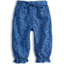Dívčí kalhoty KNOT SO BAD FLOWERS modré Velikost: 62