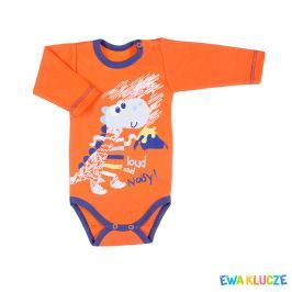 Kojenecké body EWA KLUCZE DINO oranžové Velikost: 68