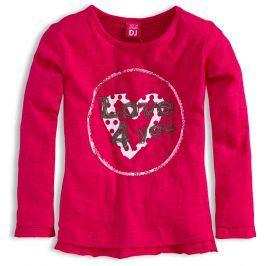 Dívčí triko Dirkje LOVE růžové Velikost: 110