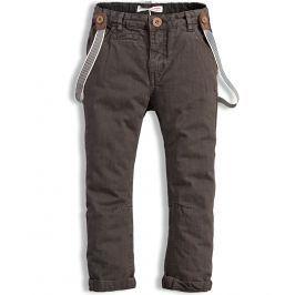 Chlapecké kalhoty s kšandami MINOTI COOL tmavě hnědé Velikost: 98-104