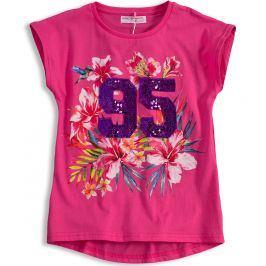 Dívčí tričko MINOTI FEVER růžové Velikost: 128-134