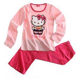 Dívčí pyžamo HELLO KITTY růžové Velikost: 152