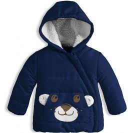 Kojenecká zimní bunda KNOT SO BAD MEDVÍDEK tmavě modrá Velikost: 86