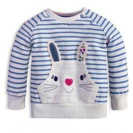 Dětská mikina Mix´nMATCH BUNNY modrý proužek Velikost: 80