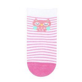 Dívčí kojenecké ponožky WOLA SOVIČKA bílé Velikost: 12-14